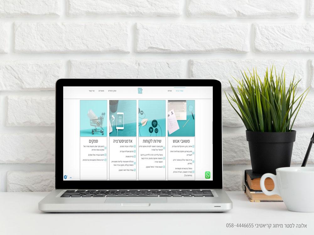 עיצב אתר תדמית עיצוב אתר אדמיניסטריה בהתאמה אישית בוורדפרס